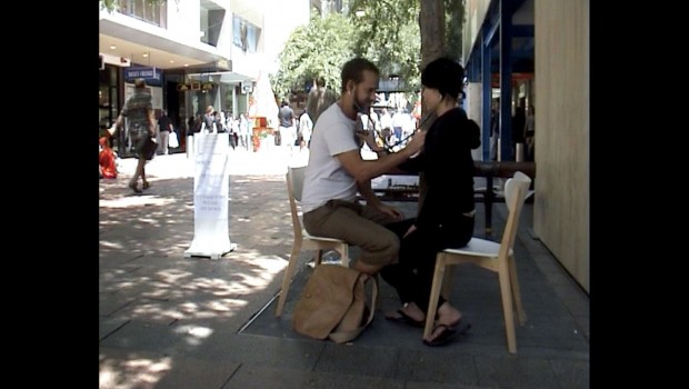 Documentation of 'How To Talk to Strangers', Pitt St Mall.