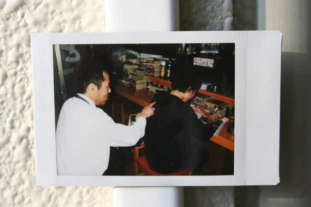 Documentation of the moment with instant camera.