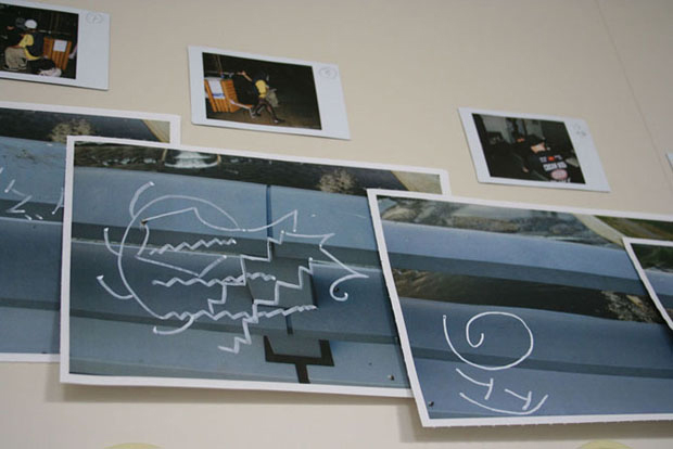 Documentation photos were shown above the corresponding section of the bridge.