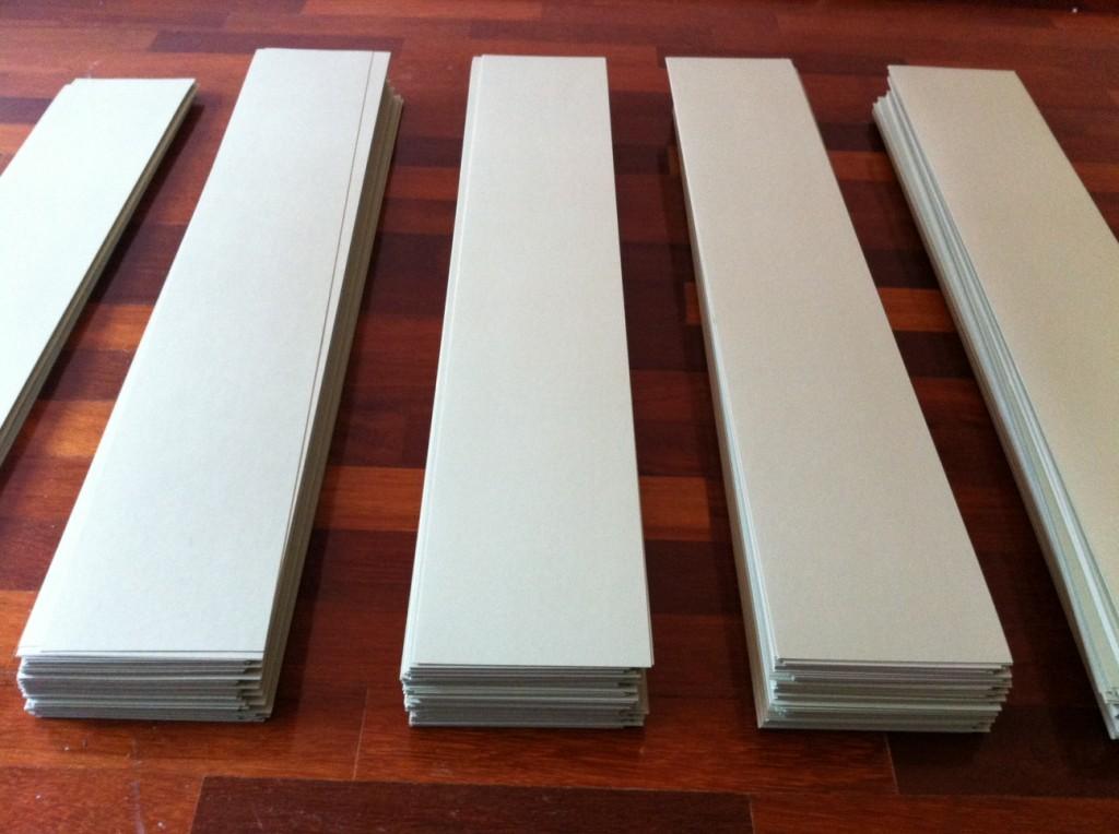 Cardboard rulers
