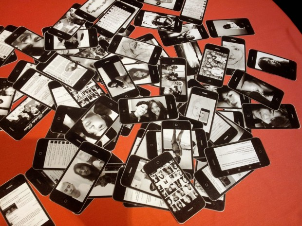 There were 79 cards in total - the number in a typical Tarot deck, plus one wild card. Photo by Art Klitique