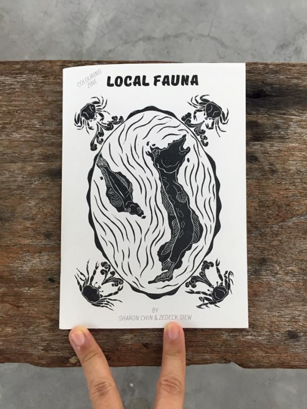 Local Fauna Colouring Zine, designed by Run Amok Gallery, featuring Local Fauna stories by Zedeck Siew
